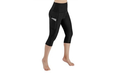 ododos-high-waist-pocket-yoga-pants-tummy-control-large-714-black2 preview