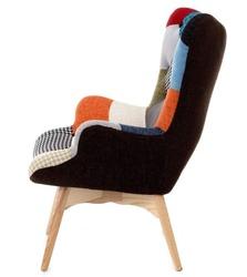 poltrona-tessuto-stoffa-patchwork-imbottita-con-schienale-alto-e-piedi-in-legno preview