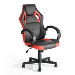 racing-style-leather-gaming-chair-ergonomic-swivel-computer-office-gaming-chair-red-en-ligne-seulement preview